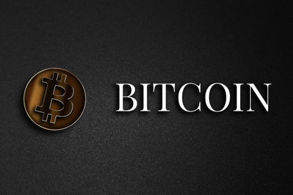 bitcoin-on-black-background